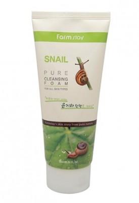 Пенка очищающая с экстрактом улитки FARMSTAY Snail pure cleansing foam 180 мл: фото