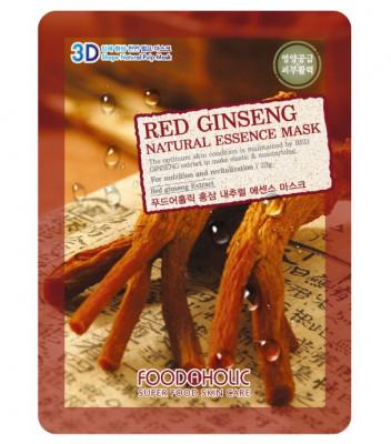 Тканевая 3D маска с экстрактом красного женьшеня FoodaHolic Red Ginseng Natural Essence Mask 23мл: фото
