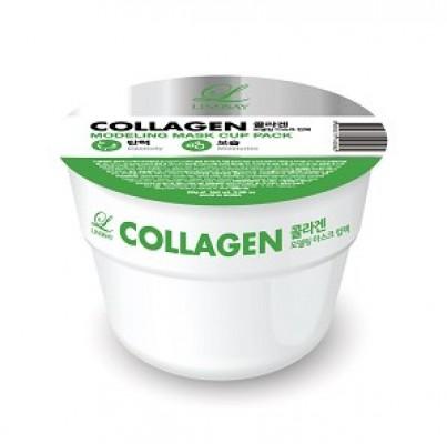 Альгинатная маска с коллагеном LINDSAY Collagen modeling mask cup pack 28 г.: фото