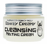 Крем для снятия макияжа ELIZAVECCA Donkey creamy cleansing melting cream 100г: фото