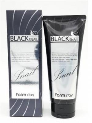 Пенка очищающая с муцином черной улитки FARMSTAY Black snail deep cleansing foam 180мл: фото