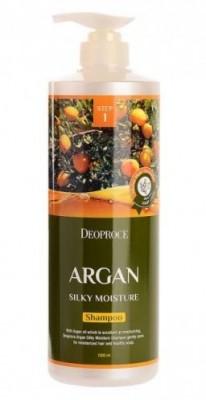 Шампунь с маслом арганы DEOPROCE Shampoo argan silky moisture 1000мл: фото