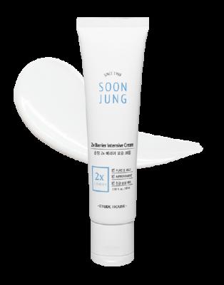 Крем для лица увлажняющий, укрепление кожного барьера ETUDE HOUSE Soon Jung 2x Barrier Intensive Cream 60мл: фото