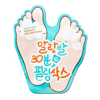 Пилинг-носочки для ног A'PIEU Soft Foot Peeling Socks: фото