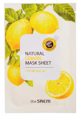 Маска тканевая с экстрактом лимона THE SAEM Natural Lemon Mask Sheet 21мл: фото