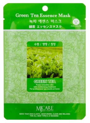Маска тканевая зеленый чай Mijin Green Tea Essence Mask 23г: фото