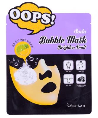 Маска пузырьковая для сияния кожи Berrisom Soda Bubble Mask Brighten Fruit 18мл: фото