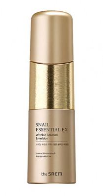 Эмульсия антивозрастная THE SAEM Snail Essential EX Wrinkle Solution Emulsion 150мл: фото