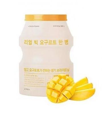 Тканевая маска йогуртовая манго A'PIEU Real Big Yogurt One-Bottle Mango: фото