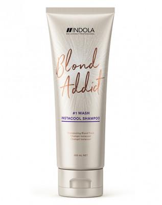Шампунь для холодных оттенков блонд Indola Blond Addict InstaCool Shampoo 250 мл: фото