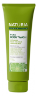 Гель для душа МЯТА и ЛАЙМ EVAS NATURIA PURE BODY WASH Wild Mint & Lime 100 мл: фото