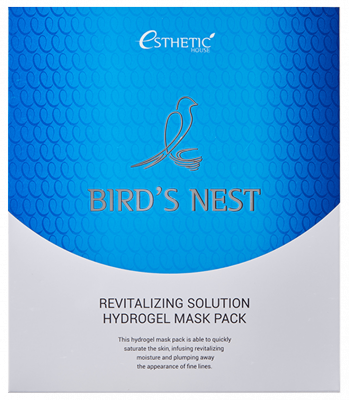 Маска для лица гидрогелевая ESTHETIC HOUSE BIRD'S NEST REVITALIZING HYDROGEL MASK PACK 5шт: фото