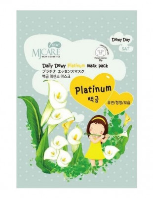 Маска тканевая с платиной Mijin Care Daily Dewy Platinum Mask Pack 25г: фото