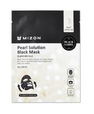 Тканевая маска с жемчугом MIZON Pearl Solution Black Mask 25г: фото