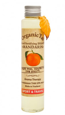 Шампунь безсульфатный с мандариновым маслом ORGANIC TAI Natural Fortifying Shampoo Mandarin 100 мл: фото