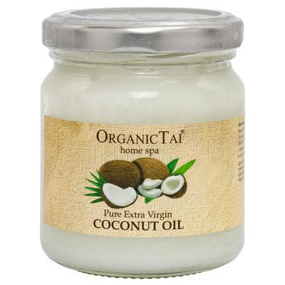 Чистое кокосовое масло холодного отжима для тела и волос OrganicTai, 200 мл: фото