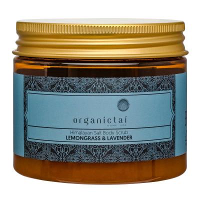 Скраб для тела на основе гималайской соли с маслами лемонграсса и лаванды ORGANIC TAI Himalayan Salt Body Scrub Lemongrass & Lavender 200 мл: фото