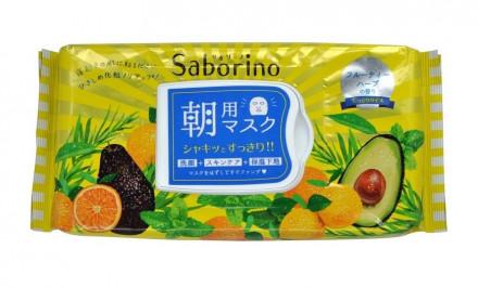 Маска-салфетка для утреннего ухода за лицом освежающая BCL Saborino Morning Facial Sheet Mask 32 шт: фото