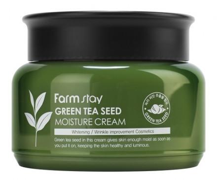 Крем увлажняющий с семенами зеленого чая FarmStay Green Tea Seed Moisture Cream 100мл: фото