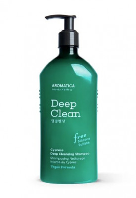 Шампунь глубокоочищающий с кипарисом AROMATICA  Cypress Deep Cleansing Shampoo 400мл: фото