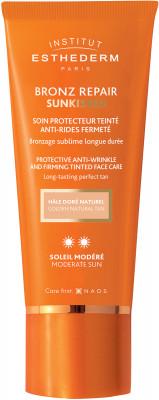 Крем для лица c оттеночным эффектом при умеренном солнце Institut Esthederm Sun Care Bronz repair 50мл: фото