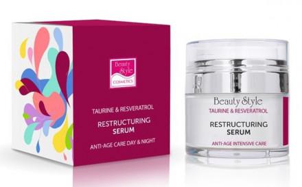 "Реструктурирующая уплотняющая сыворотка Beauty Style ""Taurine & Resveratrol"" 30 мл: фото"