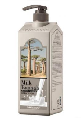 Гель для душа с белым мылом Milk Baobab Original Body Wash White Soap 1000мл: фото