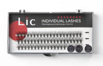 Ресницы-пучки накладные Lic Individual Lashes 12 mm: фото