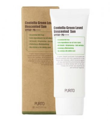 Солнцезащитный крем с экстрактом центеллы PURITO Centella Green Level Unscented Sun SPF 50+PA++++ 60мл: фото