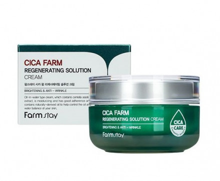 Восстанавливающий крем для лица с центеллой азиацкой FarmStay Cica Farm Regenerating Solution Cream 50мл: фото