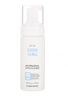 Пенка для умывания для чувствительной кожи ETUDE HOUSE Soon Jung pH 6.5 Whip Cleanser 150мл: фото