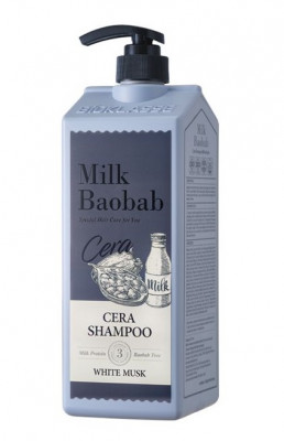 Шампунь с керамидами для волос, с ароматом белого мускуса MILK BAOBAB Cera Shampoo White Musk 1200 мл: фото